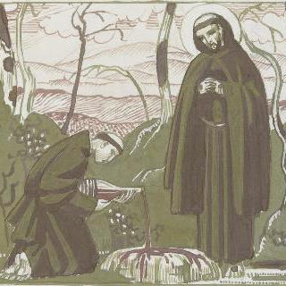 아시스의 성 프랑수아 생에 대한 일화 : 풍경 속에 보이는 장면