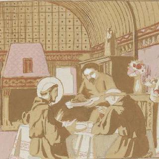 아시스의 성 프랑수아 생에 대한 일화 : 실내 식사 장면