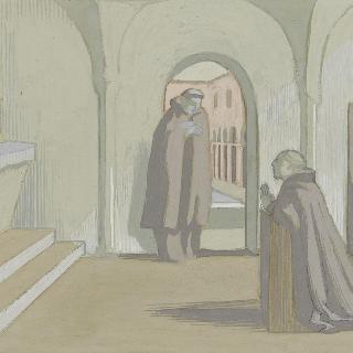 아시스의 성 프랑수아 생에 대한 일화 : 교회 안 장면