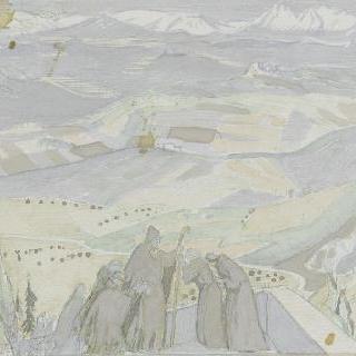 아시스의 성 프랑수아 생에 대한 일화 : 수도승들이 있는 풍경