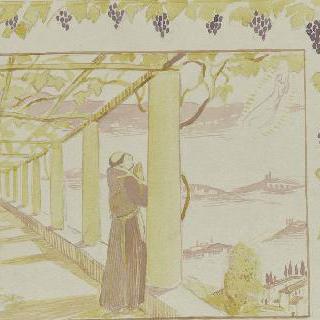 아시스의 성 프랑수아 생에 대한 일화 : 포도넝쿨 아래에서의 기도