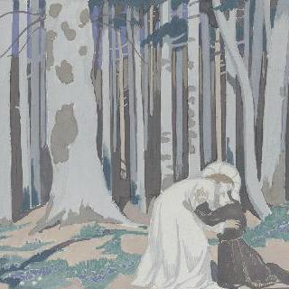 아시스의 성 프랑수아 생에 대한 일화 : 숲 풍경 속에 보이는 장면