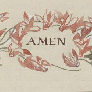 아시스의 성 프랑수아 생에 대한 일화 : 아멘이라는 문자와 장식 모티브