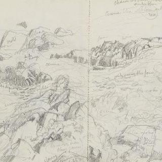 1916년 7월-10월 이라는 색표시가 있는 풍경, 페로스의 바다와 바위들