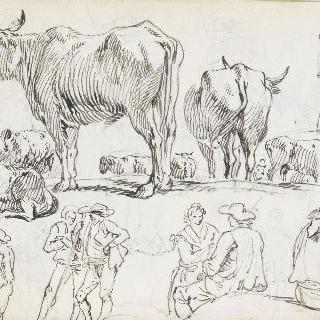 농부들과 황소들 습작