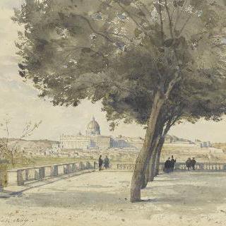 핀치오 언덕에서 바라본 로마의 전경