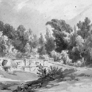보르 비콩트 공원의 샘