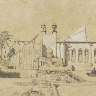 카이로의 어느 가옥의 테라스