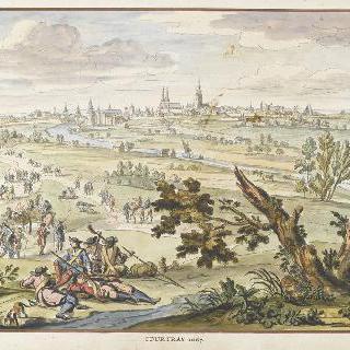 1667년 쿠르트레이. 17세기 왕들의 정복