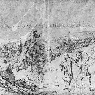 1667년 6월 21일 투르네 점령 참호 안의 루이 14세