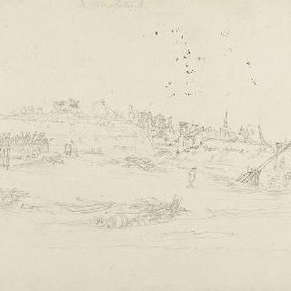 폭격 후 마스트리히트 요새의 일부 전경