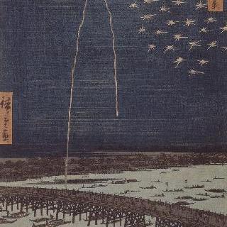 명소에도백경: 료고쿠 다리 위의 불꽃 놀이