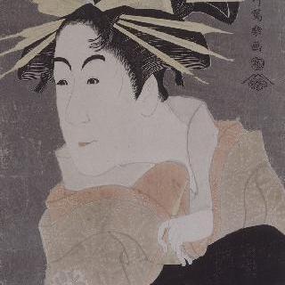 여장 남자 배우 마츠모토 요네사부로의 초상