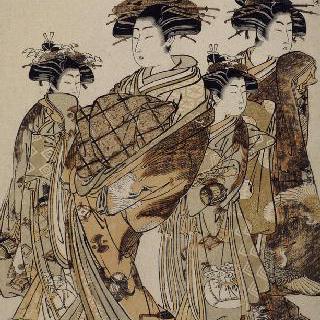 요츠메야의 화류계 여자 우타가와, 시리즈 : 새 유행 모티브에 대한 소개