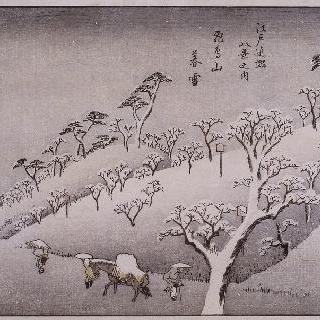 아수카야마의 설한기, 시리즈 : 에도 근방의 여덟 정경