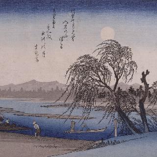 타마가와 강 위의 가을 달, 시리즈 : 에도 근방의 여덟 정경