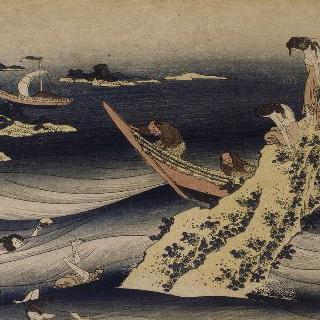 산지 타카무라, 전복 따는 해녀들, 시리즈 : 유모가 들려준 백 편의 시 (詩)