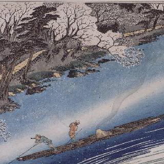 아라시야마의 꽃이 핀 벚나무 : 쿄토의 유명한 장소