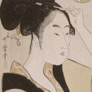 시바의 스미노에 찻집의 하녀 초상