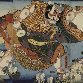 섬나라의 아사히나 (삼판 조각 그림)