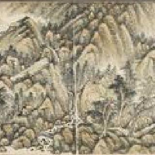 황공왕 (중국 유안시대의 화가, 사 스승 중 일인) 풍의 풍경