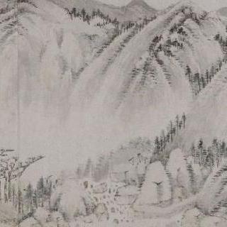 황공왕 (중국 유안시대의 화가, 사 스승 중 일인) 풍의 풍경 (후천산)