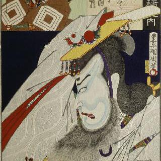 타이라노 마사카도, 작가 오노에 바이코 4세의 백 가지 역할 중 하나 시리즈
