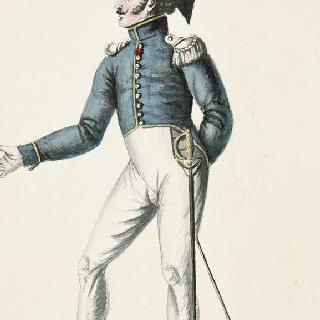 일반 제복을 입은 외인부대의 장교