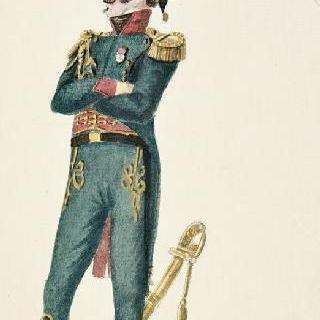 일반 제복을 입은 황실 친위대의 기병