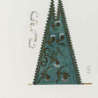 성 탕드레 사령관의 표어가 새겨진 깃발