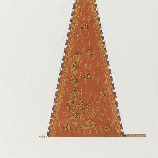 프랑수아 도팽의 표어가 새겨진 군기