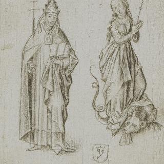성녀 마르그리트와 교황 클레멘세 6세
