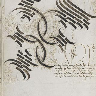 마리 드 부르고뉴의 고딕체 알파벳