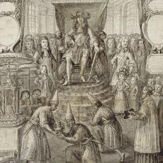 시암 특사들의 면담, 프랑수아 졸랭 출판사에서 간행된 1687년 연감