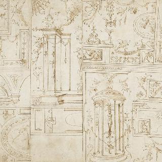 아라베스크 장식과 장식 문양의 크로키