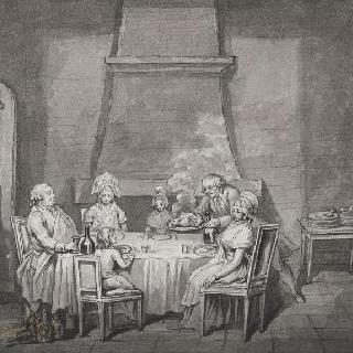 1792년 8월 13일 : 사원 감옥에서의 루이 16세와 가족들의 첫 번째 식사