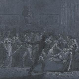 샤를로트 코르데이의 마라의 암살 (1793년 7월 13일)