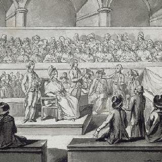 혁명 법정 앞의 마리 앙투아네트 (1793년 10월 14,15,16일)