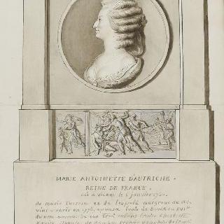 마리 앙투아네트의 상반신과 10월 5일부터 6일의 밤의 장면