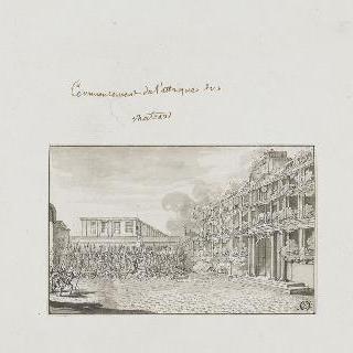 성의 공격 개시 (1792년 8월 10일 오전 10시 30분경)