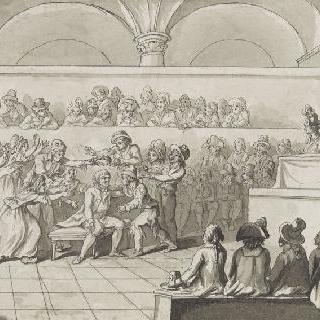 1793년 4월 24일 혁명 재판에서 무죄를 선고받은 마라