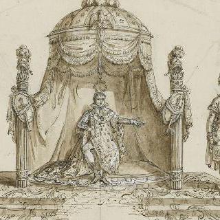 왕좌에 앉아 있는 나폴레옹 1세