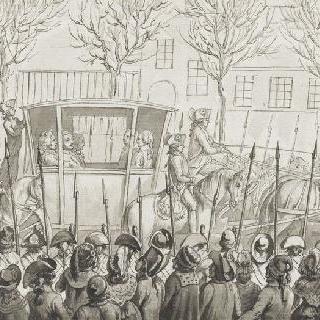 1792년 12월 11일 국민의회의 사원으로 들어가는 마차 안의 루이 16세