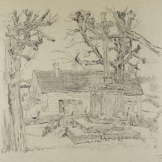 뇌빌 부근의 집과 예수 수난상
