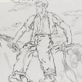 밭갈이를 끝내고 돌아오는 보르드 농가, 성시르수두르단