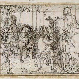 낭트에 입성하는 앙리 4세 : 승전의 행진, 두 군대의 만남