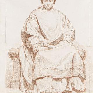 앉아 있는 사도의 앞모습