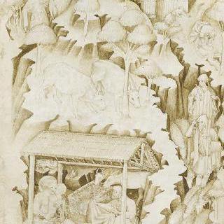 오두막집, 새, 과일