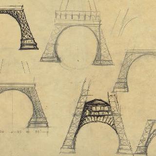 에펠탑의 장식 아치