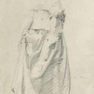 루이 13세 시대 의상을 입은 여인의 측면 습작